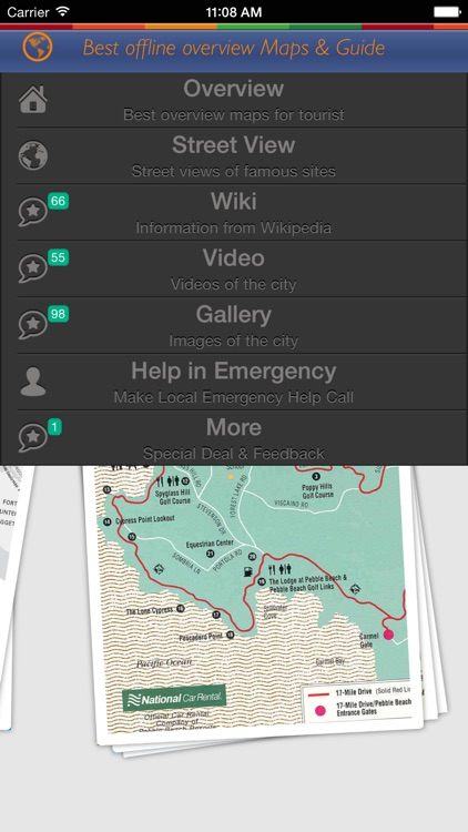 Carmel Tour Guide: Best Offline Maps with StreetView and Emergency Help Info