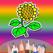 最高の子供の塗り絵 - 植物や花着色