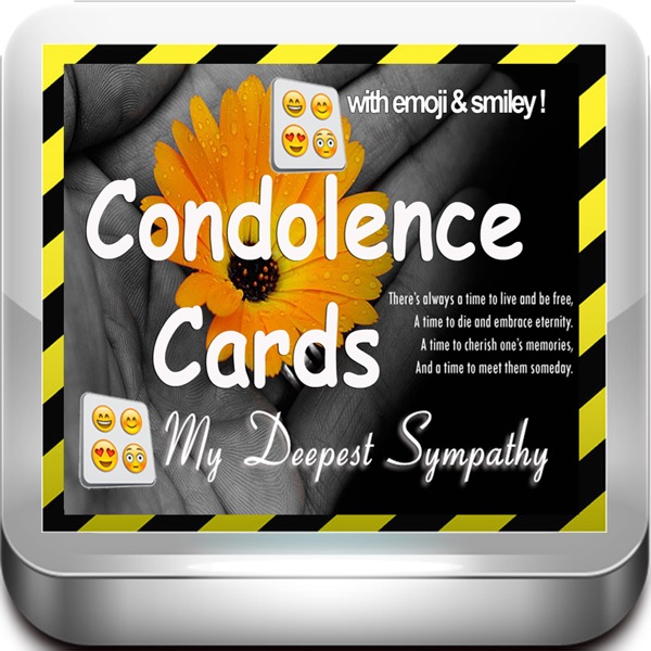 best condolence cards with emoji keypad customise and send