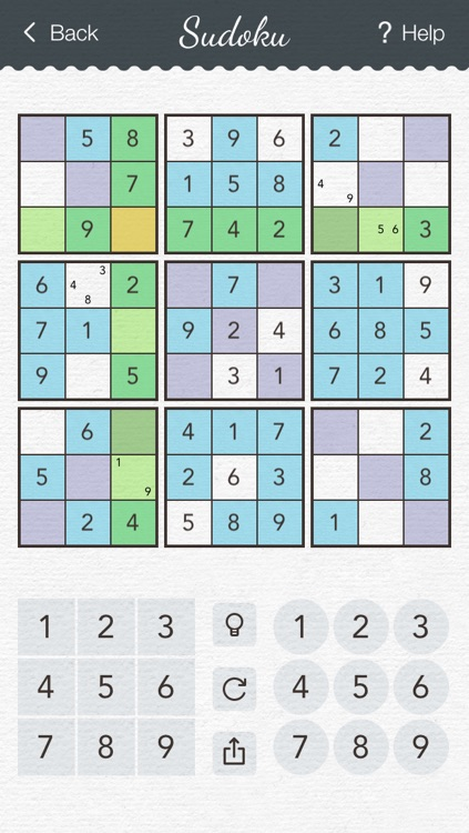 Sudoku 2 - japanese logic puzzle game with board of number squares screenshot-3