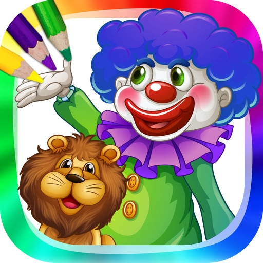 Circus and Clowns - Coloring book with drawings to paint