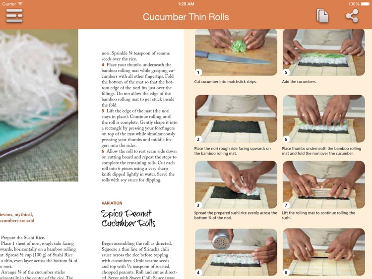 Sushi Recipes for iPad