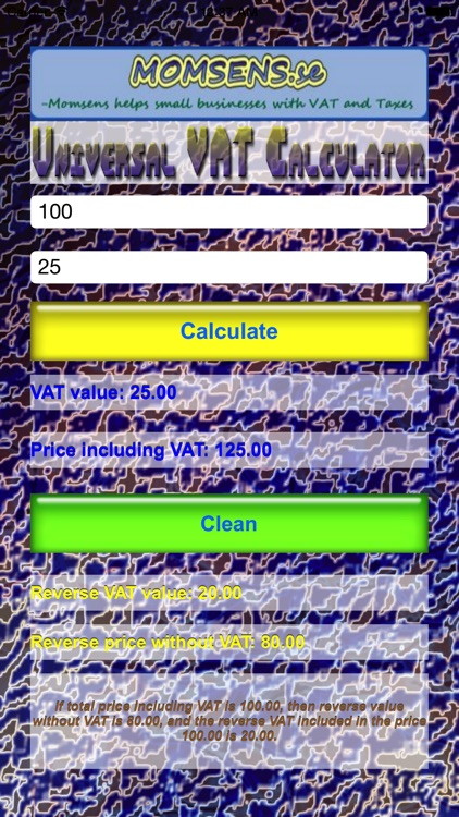 Universal VAT Calculator