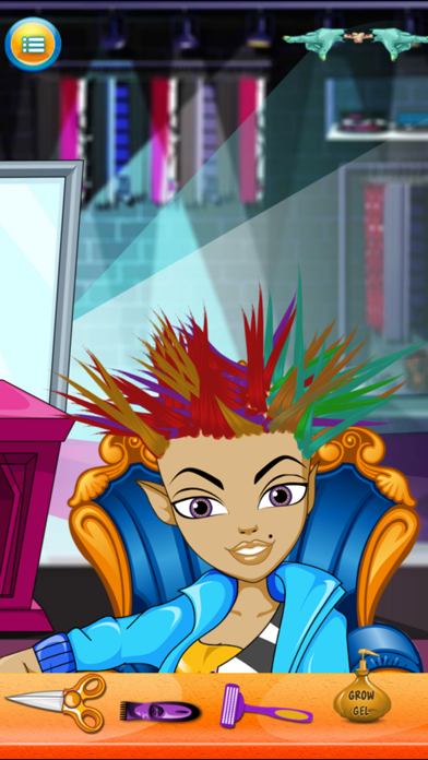 Kids New Halloween Hair Salon game for hair style makeover screenshot four