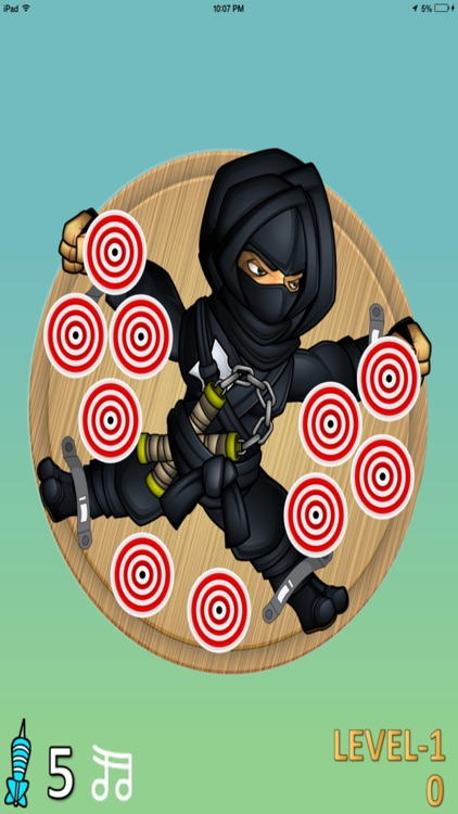 Darts Ninja - Be A Crazy Pro And Avoid The Clumsy Victim screenshot-1