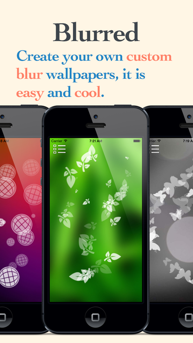 Blurred lite - Create your own custom blur wallpapers screenshot one