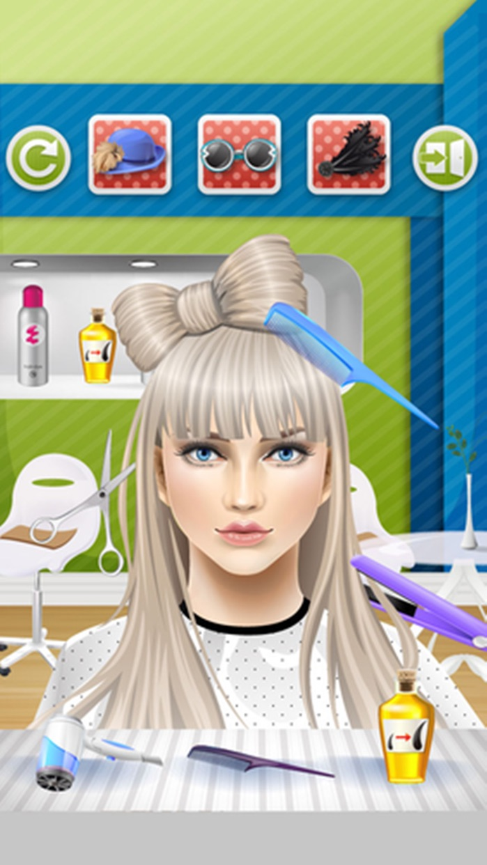 Kids Hair Salon - kids games Screenshot