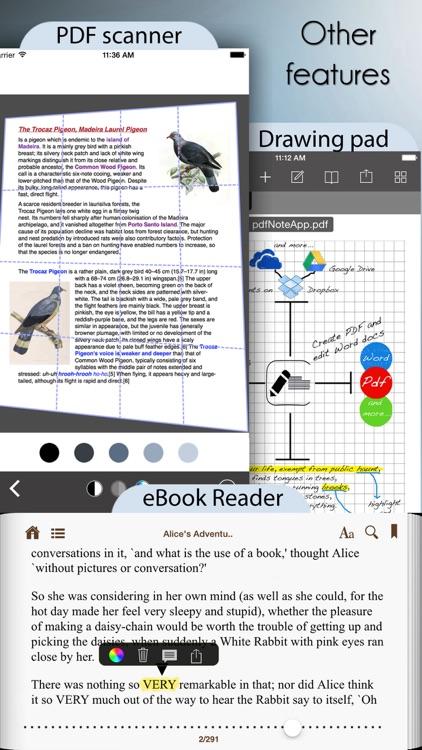 PDF Editor with Word Processor & Sketch pad screenshot-4