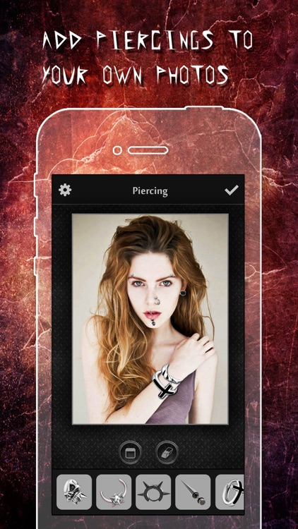 Piercing & Tattoo Booth FREE - Add Virtual Piercings & Tattoos to make body art inked or pierced app image