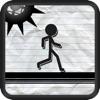 Stick-Man Paper Battle-Field Jump-er Obstacle Course