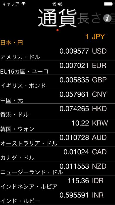 らくらく通貨・単位換算 screenshot1
