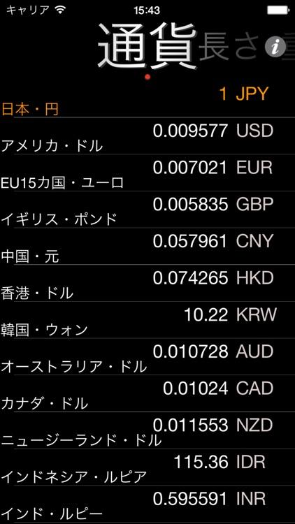 らくらく通貨・単位換算
