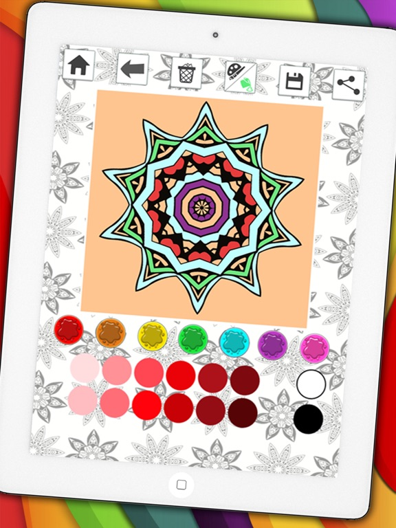 Mandalas Coloring Pages Secret Garden Colorfy Game For Adults