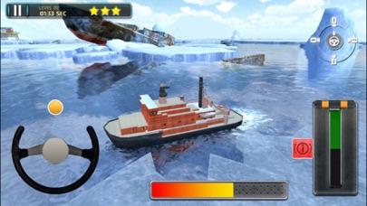 3D Icebreaker Parking - Arctic Boat Driving & Simulation Ship Racing Gamesのおすすめ画像3
