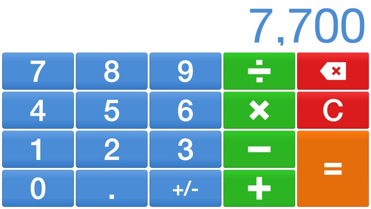 Big Digits HD Calculator with Large Buttons