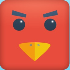 Activities of Color Red Geometry Bird Square Blok Jump Dash Spikes