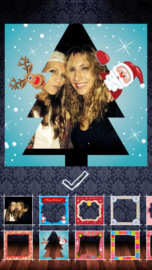 Frame My Photo: メリークリスマスのためのデジタルフォトフレームやグリーティングカードのおすすめ画像5