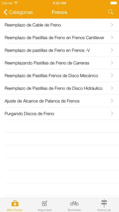 Screenshot for Bike Doctor - Guía fácil sobre reparación y mantenimiento de bicicletas in Chile App Store