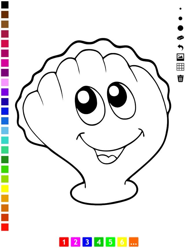 Aktif Boyama Kitabı Deniz Hayatı Hakkında çocuklar Için çizmek