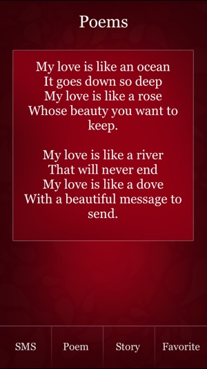Love SMS, Love Poem & Love Story. ~ Send SMS to your love one with full of  romance! on the App Store