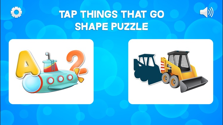 Tap Trucks and Things That Go Shape Puzzles screenshot-4