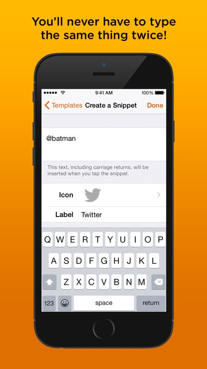 TypeSnippets — The Keyboard that types for You. screenshot-4