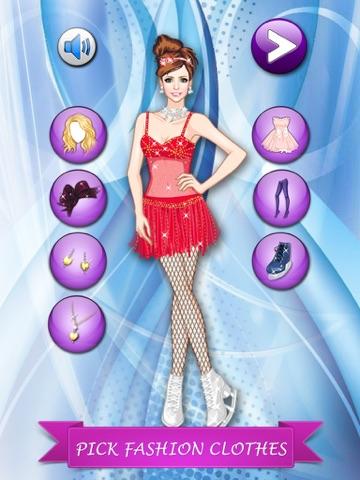 フィギュア スケート ガール変身 - かわいいファッションの女の子、メイクアップとプリンセスのゲームを愛する子供たちのゲームをドレスアップします。のおすすめ画像2