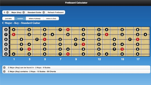 Fretboard Calculator On The App Store