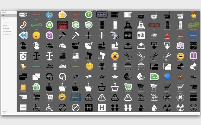 clipart for iwork and ms office on the mac app store  app store - apple