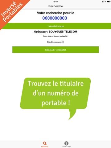 Screenshot #5 pour Annuaire Inversé Gratuit Portable, Mobile, Fixe et Box