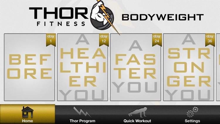 Thor Fitness: 60 Day Bodyweight Workout Routine - Program for Strength and Cardio Conditioning