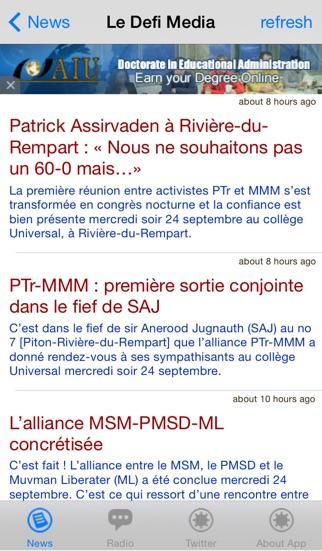 Mauritius News screenshot two