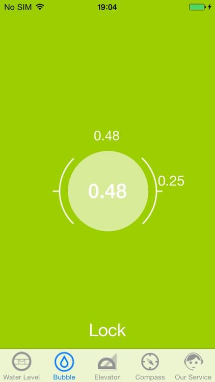 clinometer + water level + compass