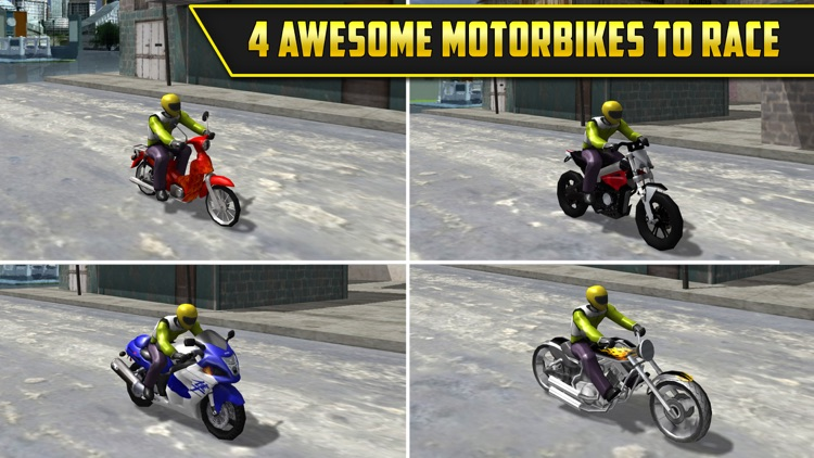 3D Motor-Bike Drag Race: Real Driving Simulator Racing Game screenshot-1