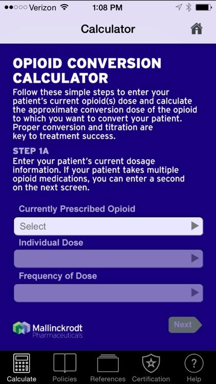 Opioid Dose Conversion Calculator