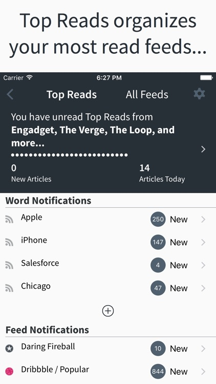 Top Reads - The Learning RSS Reader