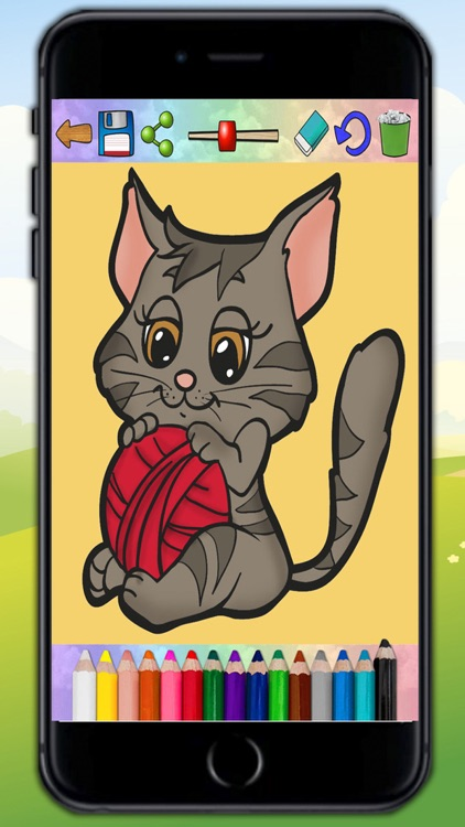 Coloring cats and kittens - drawings to paint screenshot-3