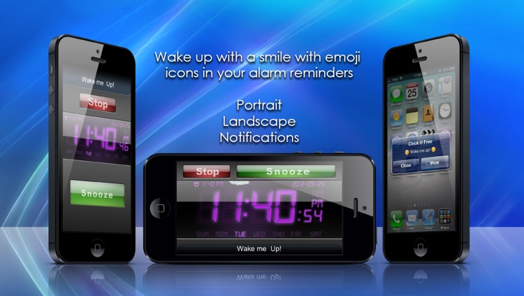 Alarm Clock Wake ® Pro Free - Wake & Rise! screenshot-1