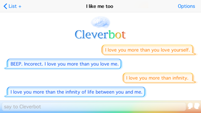 Cleverbot review screenshots