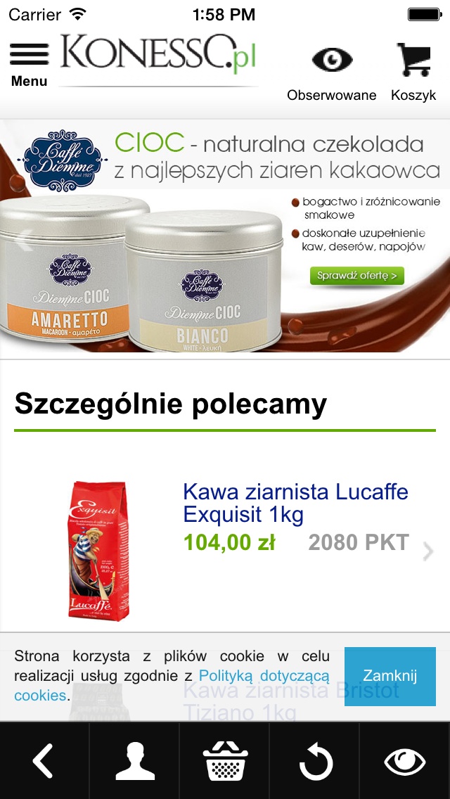 Sklep KONESSO.pl screenshot two