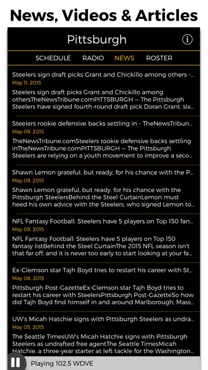 Pittsburgh Football Radio & Live Scores screenshot-4