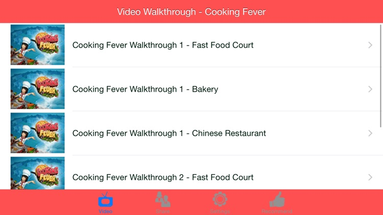 Video Walkthrough for Cooking Fever