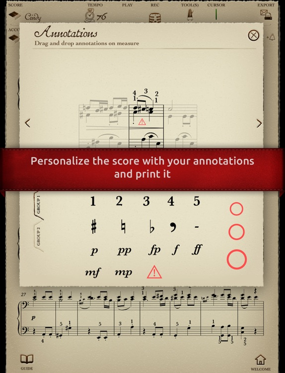 Play Beethoven – Symphony No. 7 (interactive piano sheet music) screenshot-3