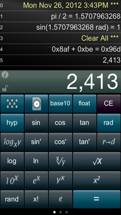 Paper Calc for Coders Lite screenshot three