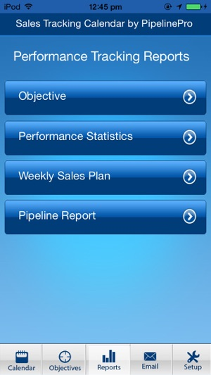 sales tracking calendar