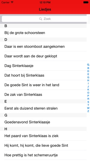 iSint - Sinterklaasliedjes Screenshot