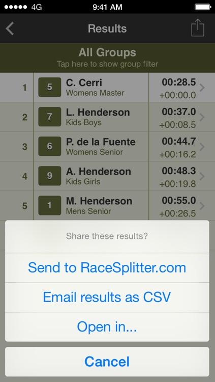RaceSplitter — Race & split timer for event organizers and coaches screenshot-4