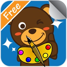 cartoon coloring page art game for kid