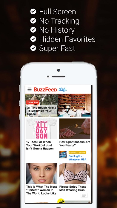 Full Screen Private Browser for iPhone