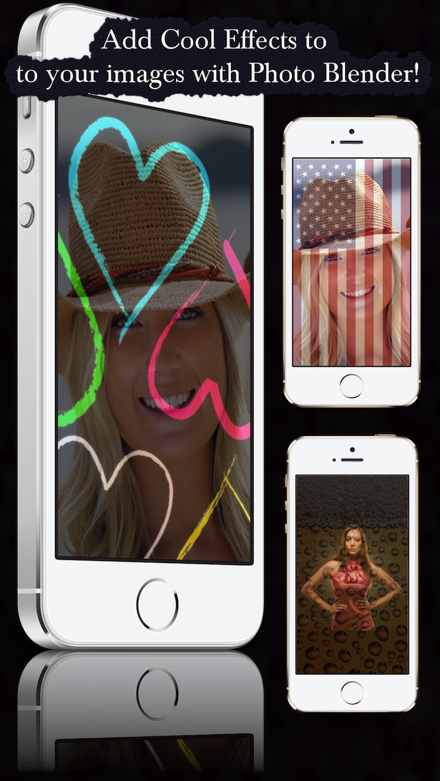 Photo Blender - Add Cool Texture with Background on top of your images Screenshot on iOS